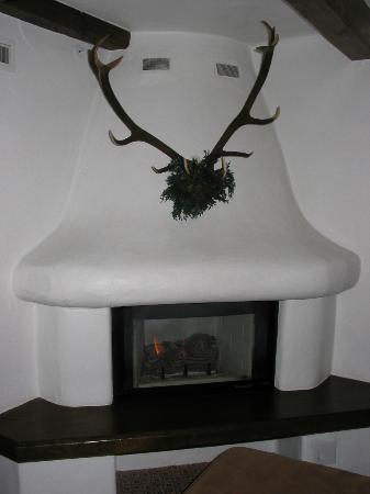 سونينالب: Fireplace in one of our rooms 