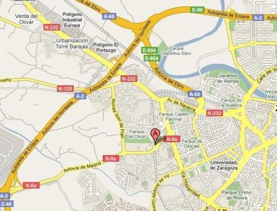 Hotel Restaurante El Cisne: Map