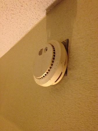 Days Inn Morehead: old smoke dector