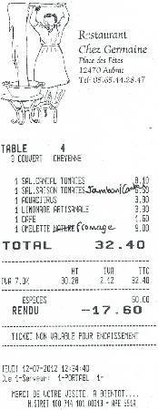 Aubrac, Francja: note du 12 juillet 2012 (cf commentaire client)