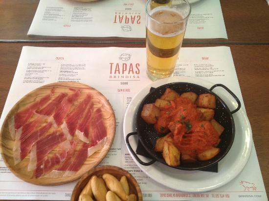 Tapas Brindisa Soho : A Jewel of a place. Really hits the spot!