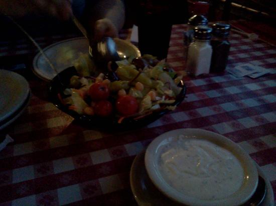 Filippi's Pizza Grotto: Salad at The Pizza Grotto.
