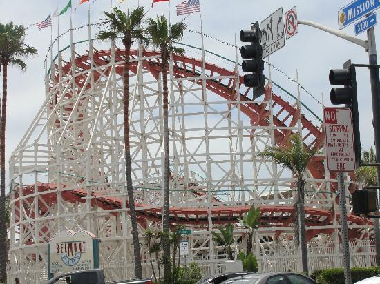 Wooden Roller Coaster Picture Of Belmont Park San Diego