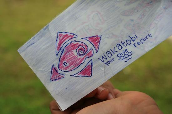 Wakatobi Dive Resort: my kids drawing.. they love the resort so much, the take it to heart