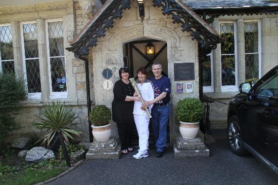 Rylstone Manor Hotel : The olympic flame at Rylstone our friend was an official runner