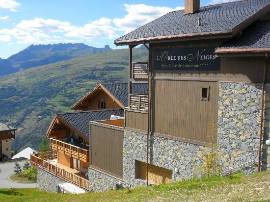 Residence l'Oree des Neiges: vue sur la montagne et la vallée