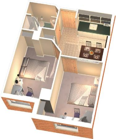 Residence & Conference Centre - Oshawa: Private Suite Layout