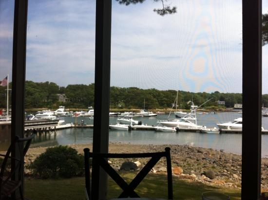 Dockside Restaurant on York Harbor: View from deck