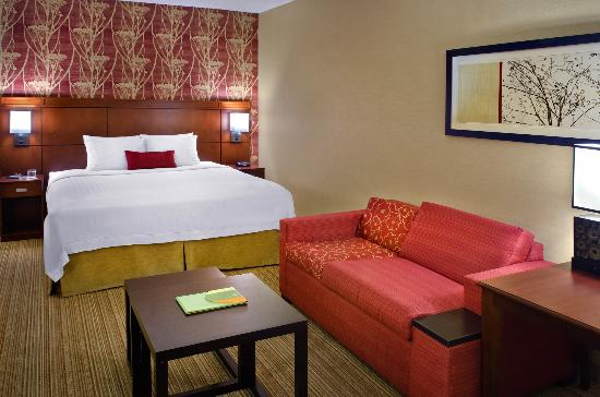 Courtyard by Marriott Jersey City Newport: King Guest Room w/ Sofa Bed