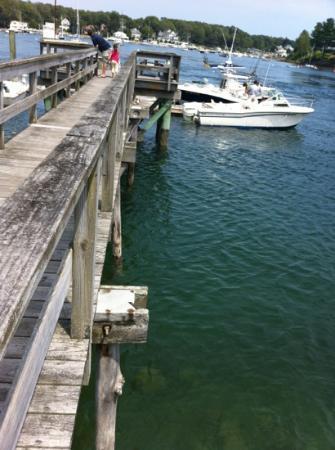 Dockside Restaurant on York Harbor : dock near restaurant