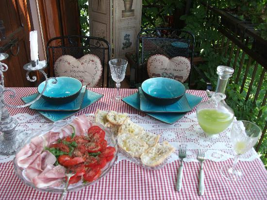 Villa Michela: Michela prepared a refreshing lunch for us when we arrived