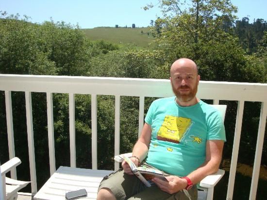 Creekside Inn : qui sono sul balcone della camera con il panorama dietro