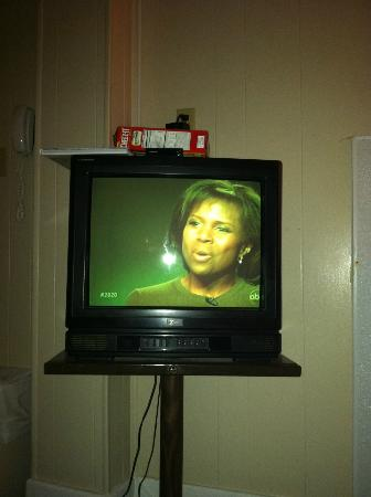 The Admiral Motel : This doesn't even begin to show how green the TV was glowing.