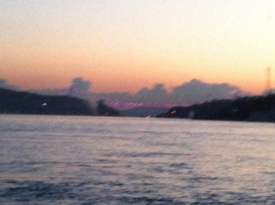 Bosphorus Palace Hotel: view at sunset from my room