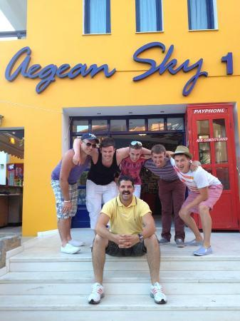 Aegean Sky Hotel & Suites: us with Panos