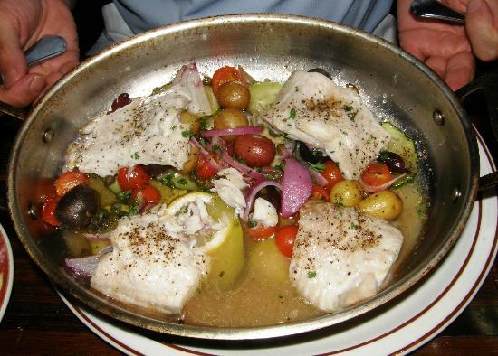 Tello Italian Bistro: Whitefish Napoleon Pan Roast