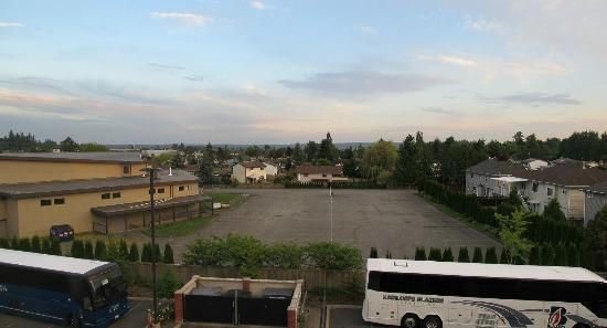 Holiday Inn Hotel & Suites Surrey East - Cloverdale: View looking south from room, hwy 15 is on the left.