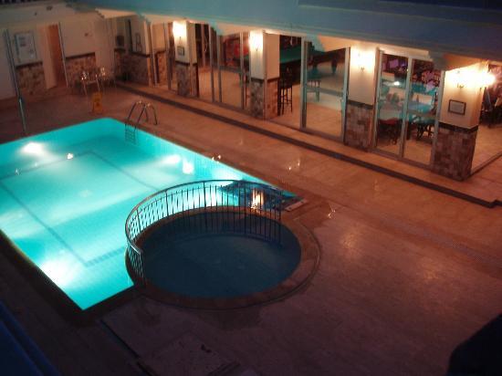 Club Aegean: The bar pool at night