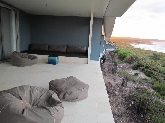Southern Ocean Lodge: view from the cozy terrace
