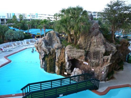 The Island By Hotel Rl View Of Grotto Pool From Our 4th Story