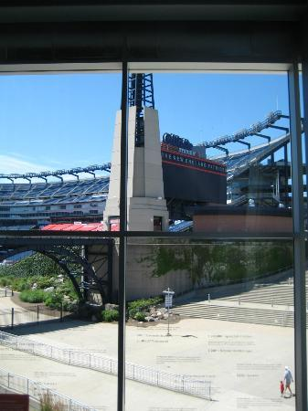 The Hall at Patriot Place : A view of the field from the hall