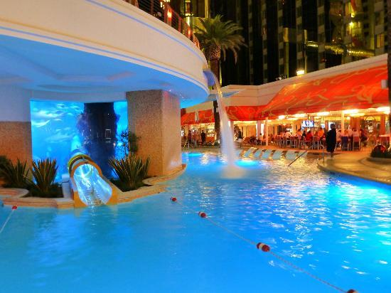 Water Slide Through Shark Tank Picture Of Golden Nugget Hotel Casino Las Vegas Tripadvisor