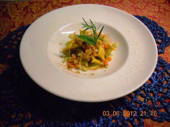 Locanda di Linu : fagottini di fagiano con ragu di verdure croccanti