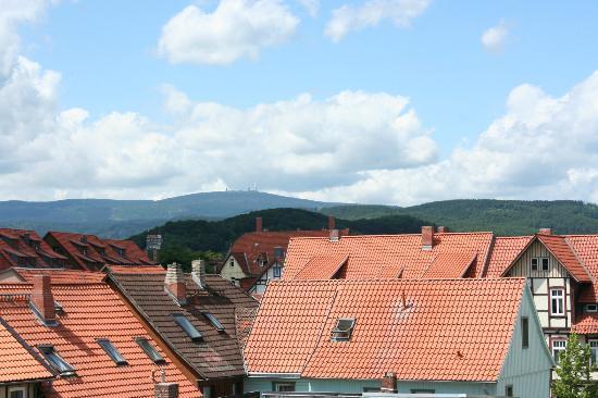 Alter Kutschenbauer: View towards the Brocken from bedroom window.