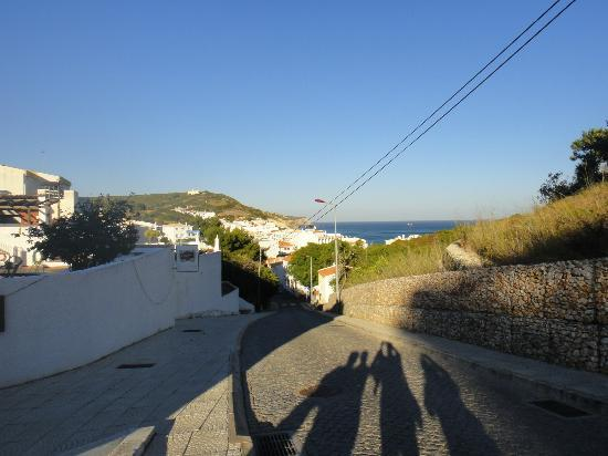 Salema Beach Club: View from complex down the street into town