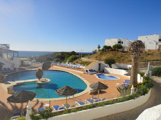 Salema Beach Club: View of the pool from balcony