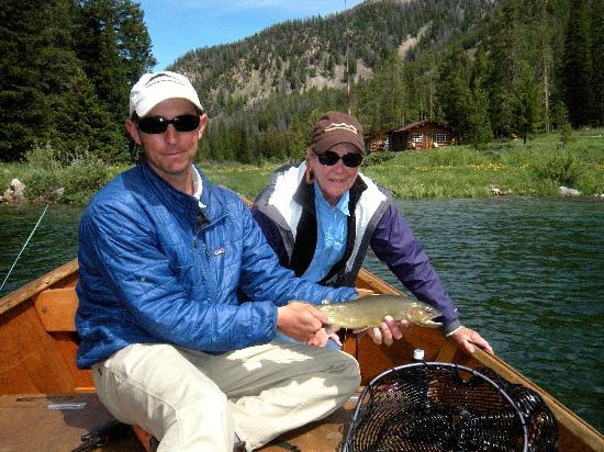 Flat Creek Ranch: Cutthroat in the lake