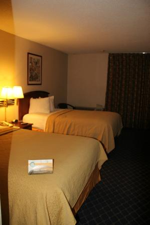 Quality Inn Rochester Airport: The Beds in the Room