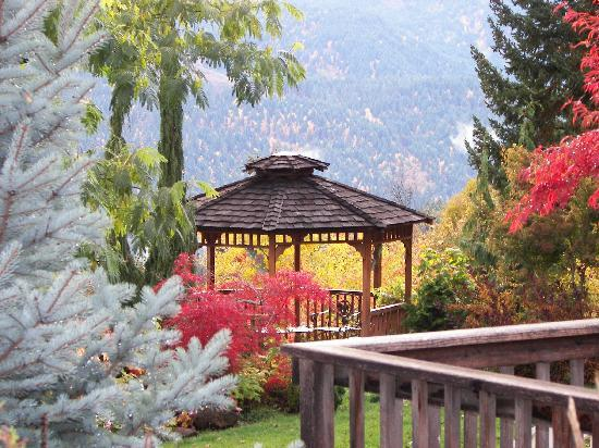 Husum Highlands Bed and Breakfast: Gazebo in the Fall