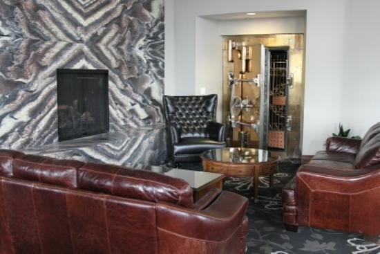 The Mining Exchange A Wyndham Grand Hotel & Spa: Custom fireplace wall
