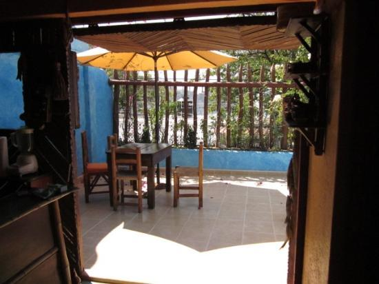 Casa Azul - La Madera : From Kitchen Looking out to Balcony
