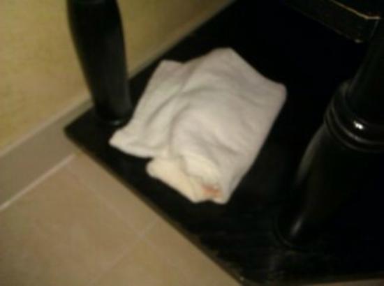 Best Western Bar Harbour Inn: Old towels