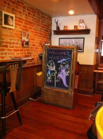 White Dog Cafe: maitre' d stand