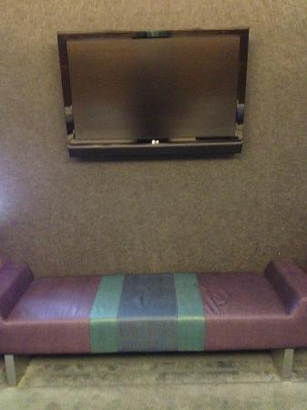 aloft Philadelphia Airport: TV in room.