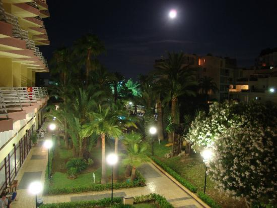 Globales Palmanova: Evening view from the first floor