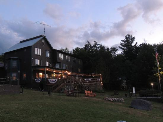 Big Moose Inn at dusk