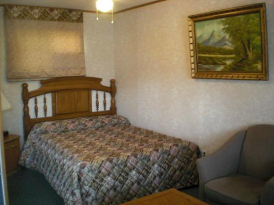 J&J Motel: Room with One Queen Size Bed
