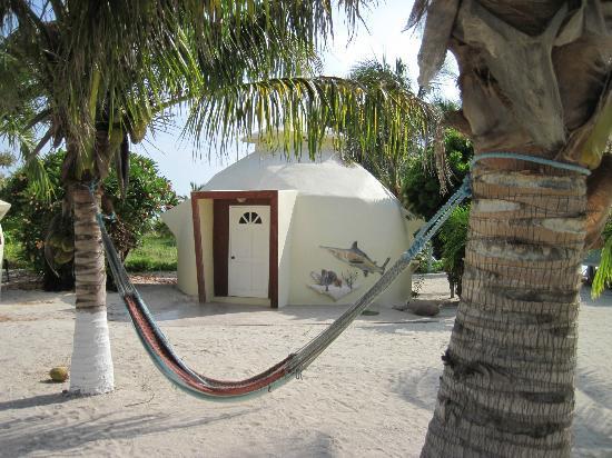 "Blue Marlin Beach Resort: My ""dome"" and hammock"
