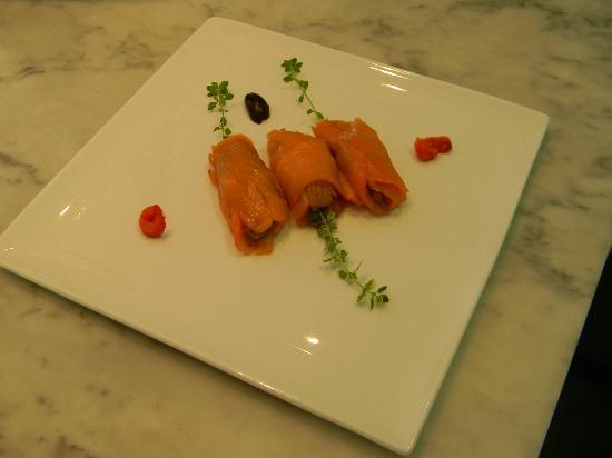 The Chanric Inn: Smoked salmon stuffed with ratatouille
