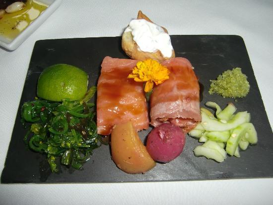 Goodstone Inn & Restaurant: Salmon appetizer