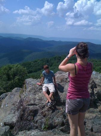 Bearfence Mountain: My fiancee and her brother. I have a panorama, but it would spoil it for you.