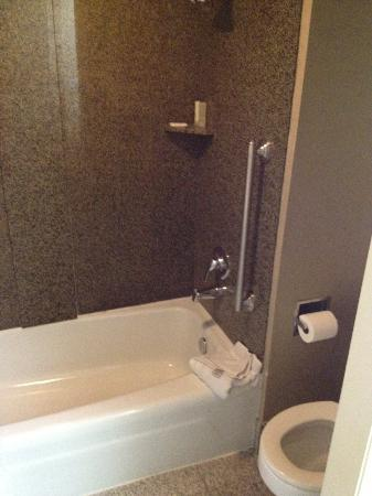 Wyndham Oklahoma City: Small Shower Area