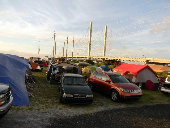 Delaware Seashore State Park : Tent city