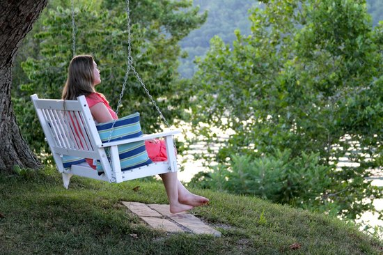Riverside Inn Bed & Breakfast: Swing overlooking the Ohio River