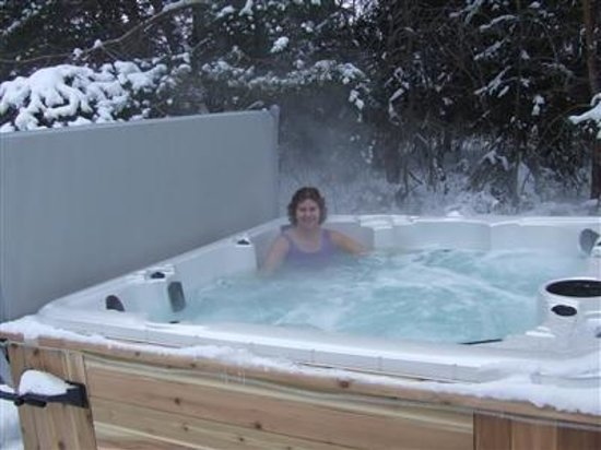 Evergreen Gate Bed and Breakfast: Hot tub open year round