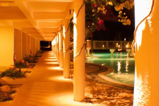 Bluewater Panglao Beach Resort: Pool and Corridor